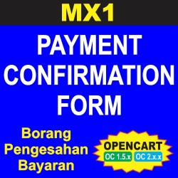 MX1 Payment Confirmation Form